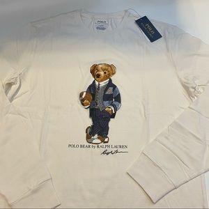 Polo Ralph Lauren Football Bear Long Sleeve Shirt